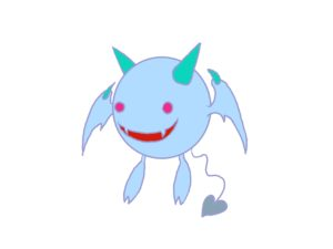 【フリー無料イラスト】小悪魔・ミニ天使マスコットイラスト03【アイキャッチ】